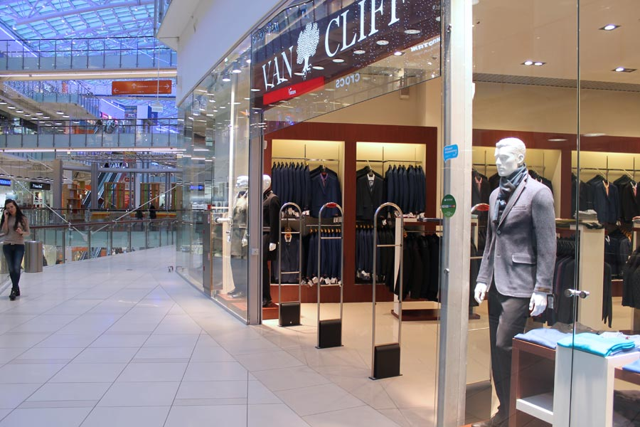 Установка противокражной системы для сети магазинов мужской одежды