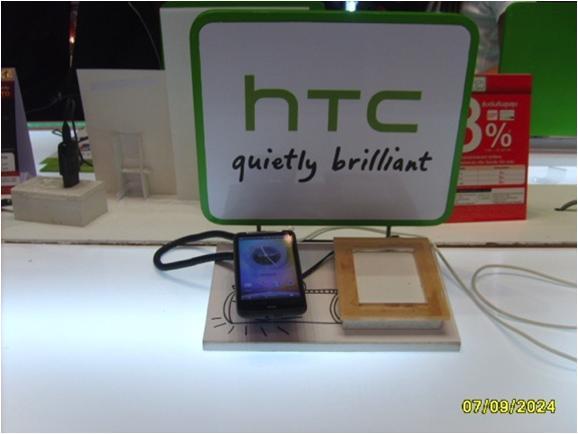 Cтенд HTC: защита от краж и презентация мобильных телефонов. Используемые противокражные системы - inVue POD Module