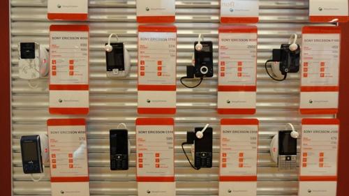 защита товара от краж на стеллажах в свободной выкладке МТС